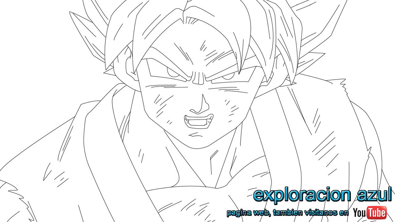 Dibujos De Goku Y Sus Transformaciones Para Colorear: Image Of Goku Sin Colorear Goku Sin ColorImágenes De Goku