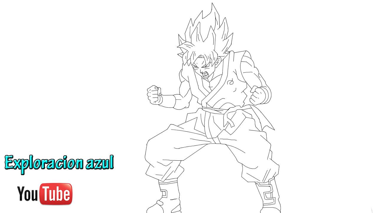 Excepcional Ssj3 Goku Para Colorear Cresta - Ideas Para Colorear ...